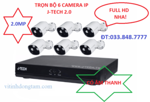 Trọn bộ 6 mắt camera IP 2.0